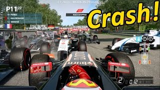 F1 2014 HUGE Crash - Pastor Maldonado Red Flag Race