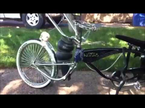 Lowrider Bike On Air Bags Youtube
