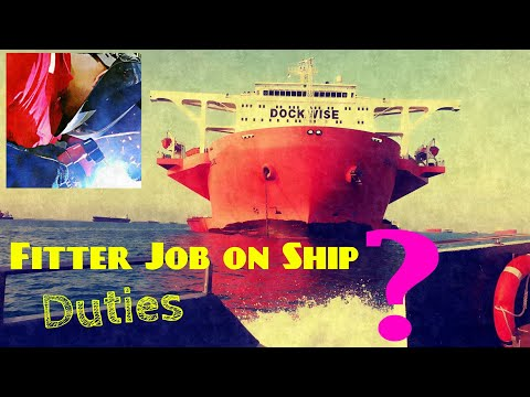 Fitter Job on Merchant navy Ship,s.