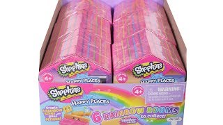 Shopkins Happy Places Rainbow Rooms Blind Box Full Case Unboxing Toy Review Full Set