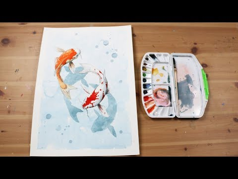 How To Paint A Koi Fish In Watercolour