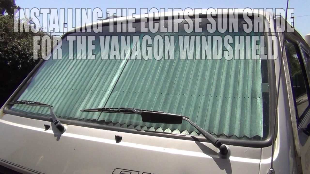 GoWesty   Eclipse Sun Shade for Vanagon Windshield - YouTube 63720480bb8