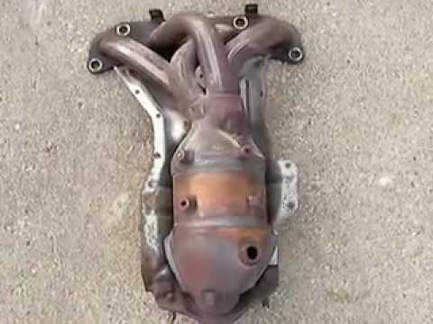 2003 Altima 2.5S Precat Removal Header Install - YouTube