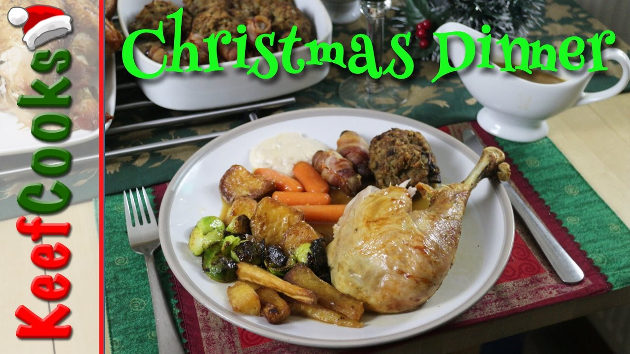 Traditional English Christmas Dinner.British Christmas Dinner Traditional Recipe