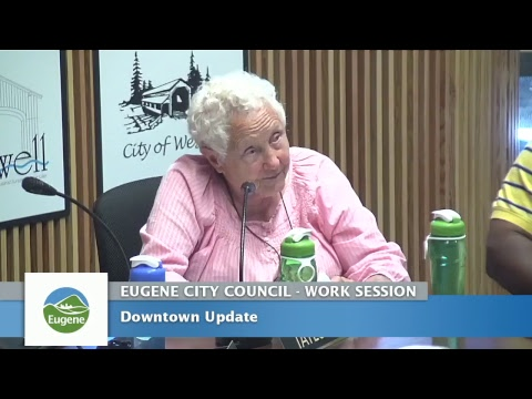 Eugene City Council Wednesday Work Session: July 26, 2017