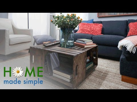 Storage Crate Coffee Table | Home Made Simple | Oprah Winfrey Network