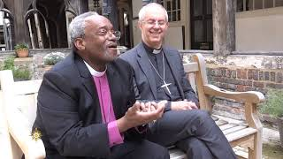 ACNS - Archbishop Justin Welby and Presiding Bishop Michael Curry on the eve of the royal wedding