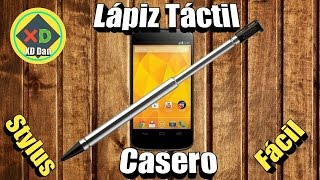 Como hacer un Lápiz Tactil Casero para celular (STYLUS)