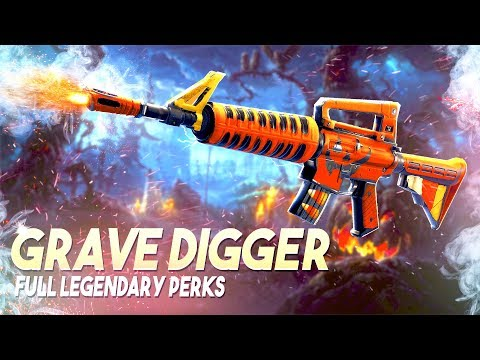 *LEGENDARY PERKS* Grave Digger Weapon Review  Fortnite Save The World