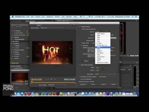 HotTips #3 การ export video จาก Adobe Premiere Pro อย่างเหมาะสม เพื่ออัพขึ้น Youtube