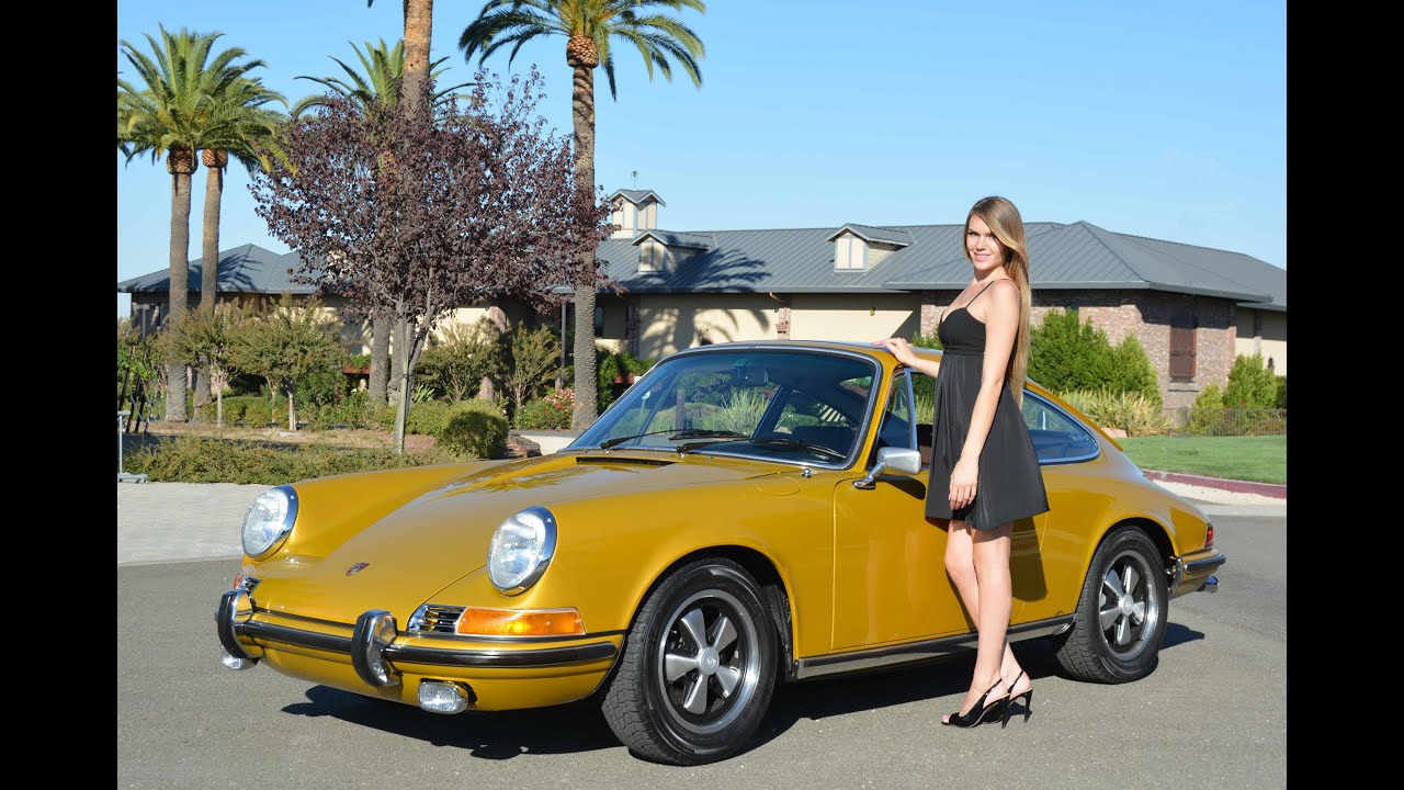 1972 Porsche 911e Coupe Gold Metallic Youtube