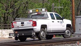 CSX Hi-Rail Truck Leaves the Rails