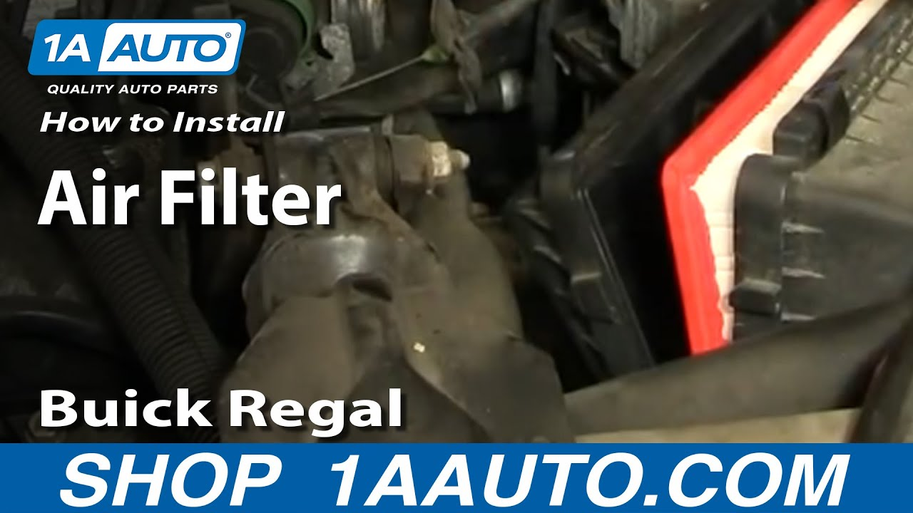 how to install replace air filter buick regal century v6 97 05 rh youtube com