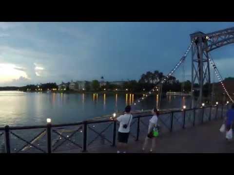 360 Degree Sunset Time Lapse from Disney Springs Bridge