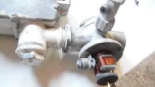 Принцип действия электромагнитного клапана газового котла.
