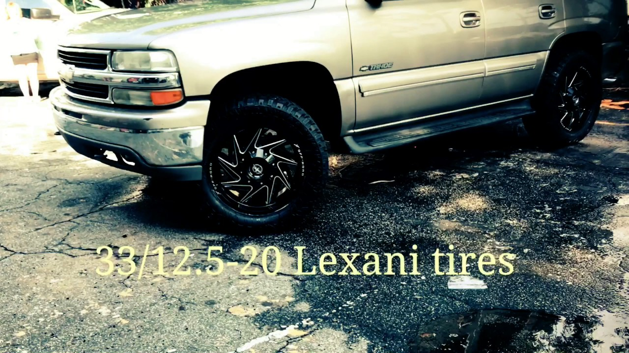 """Chevy Tahoe Lease >> 2001 Chevy Tahoe sitting on 20"""" XF OFF-ROAD 203 Black & Milled wheels and 33/12.5-20 Lexani ..."""