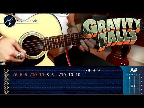 Como tocar gravity falls en guitarra ac stica tutorial for Partituras guitarra clasica