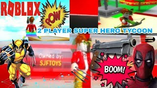 How to play 2 SUPER HERO TYCOON GAMEPLAY in Roblox