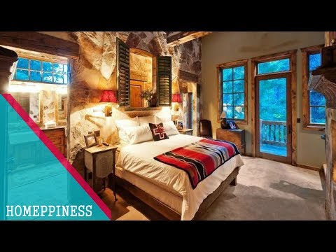 Awesome !!! 35+ Rustic Bedroom Decorating Ideas With Nice Bedroom Furniture Homeppiness