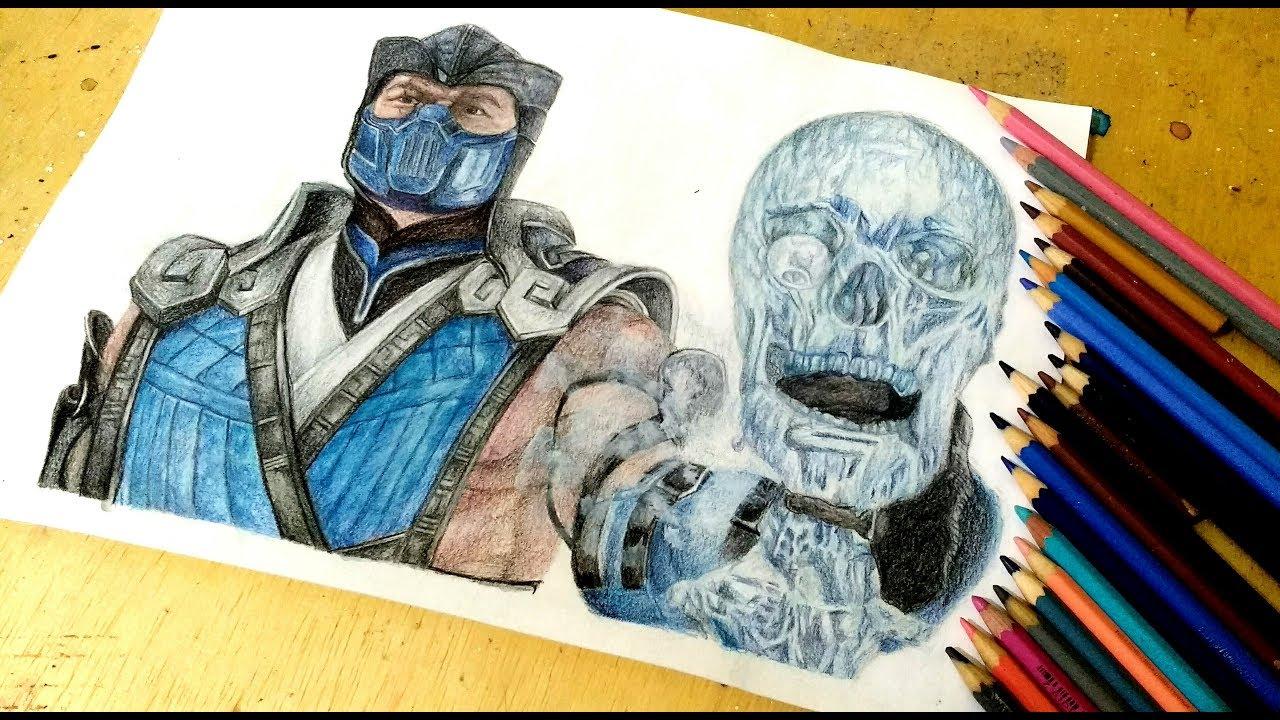 Drawing Sub Zero Mortal Kombat 11 Youtube