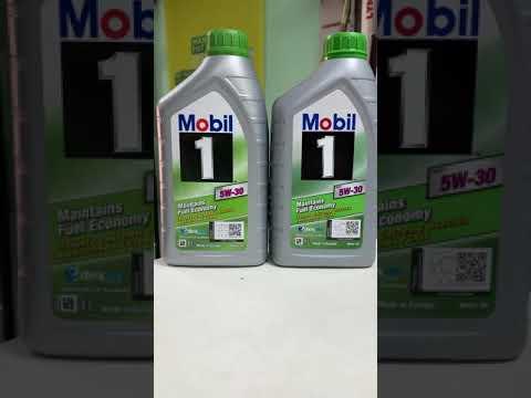 Отличие оригинального масла от подделки Mobil ESP 5w30 артикул 154279