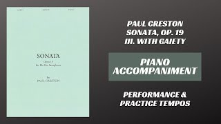 Paul Creston – Sonata Op. 19, mvt. III (Piano Accompaniment)