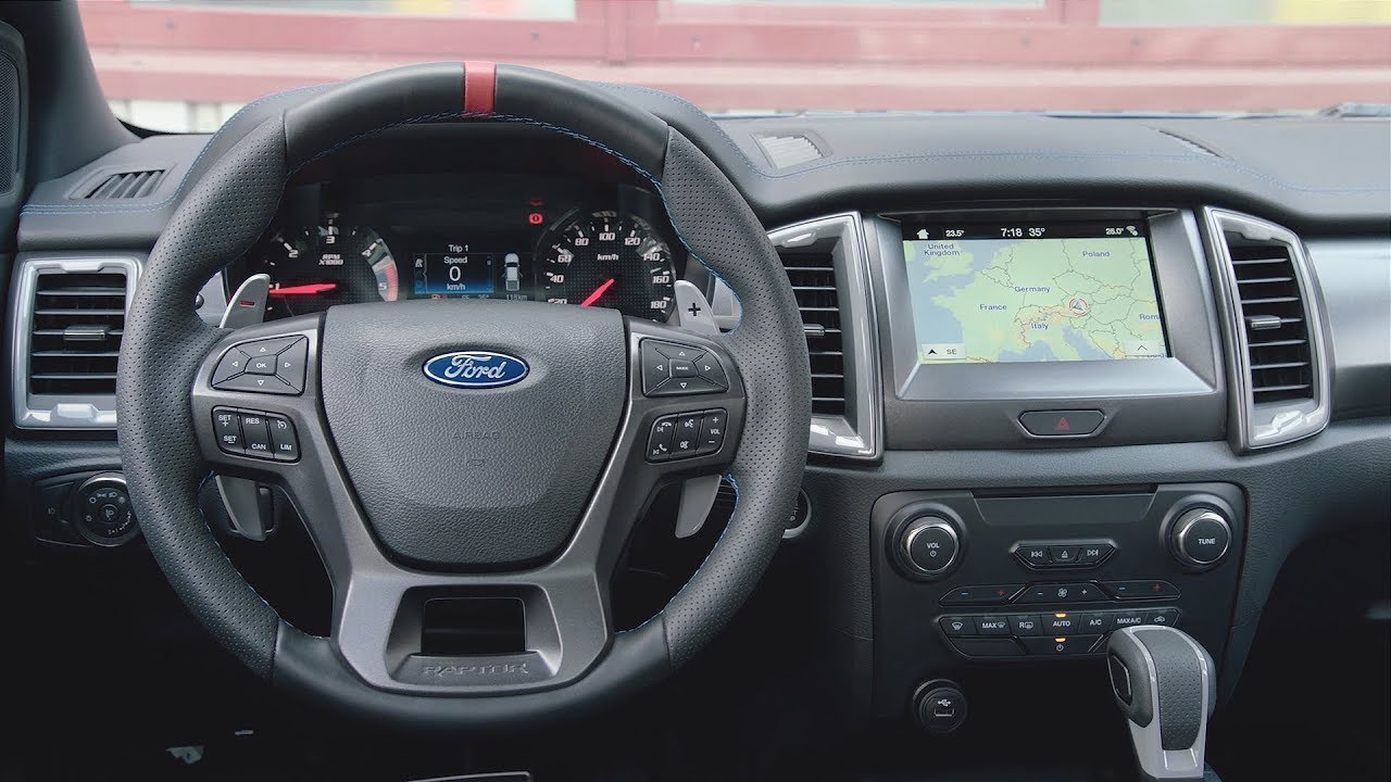 Ford Raptor Interior >> 2019 Ford Ranger Raptor Interior