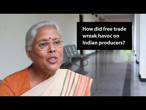 How did free trade wreak havoc on Indian producers?