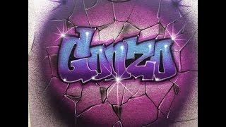 """Gonzo"" graffiti block lettering"