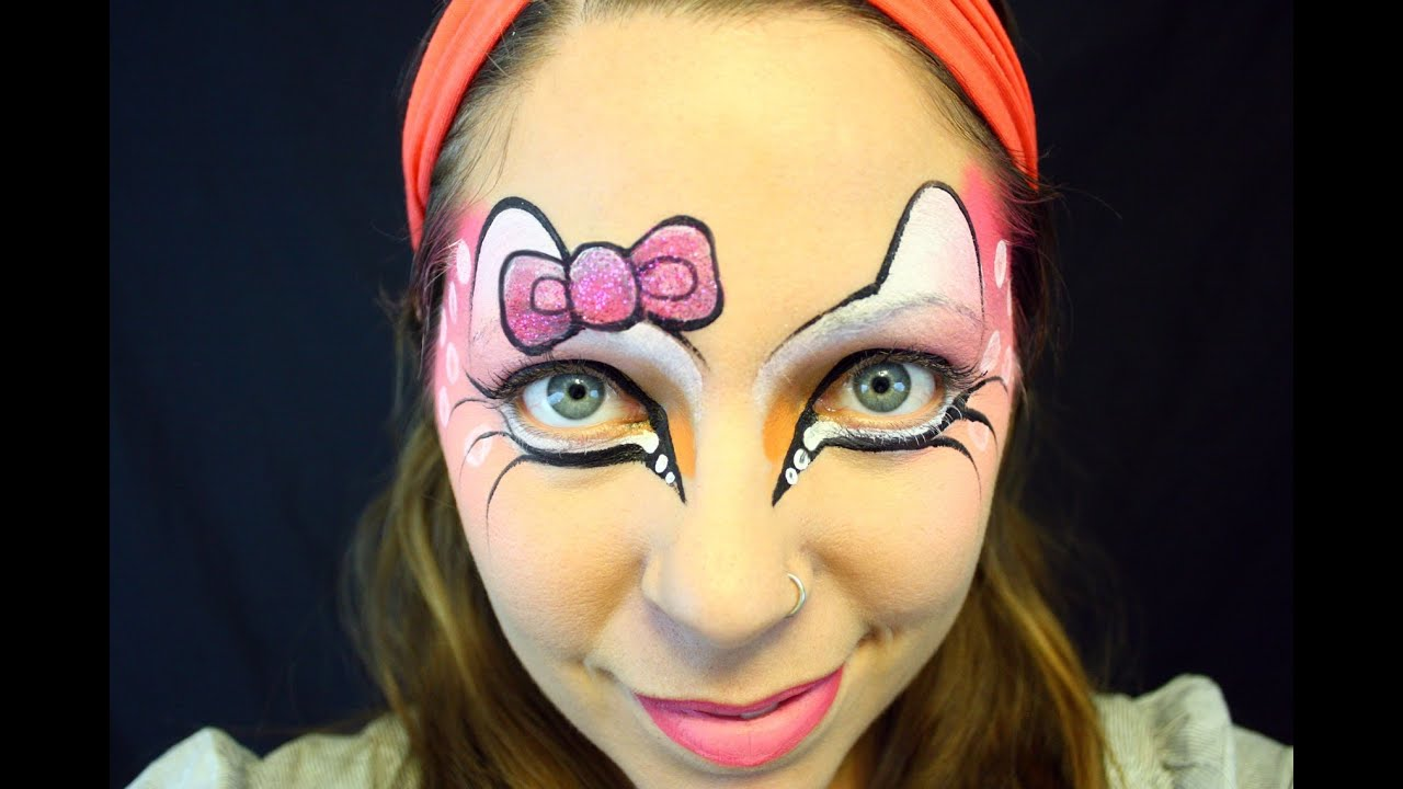 hello kitty face painting tutorial