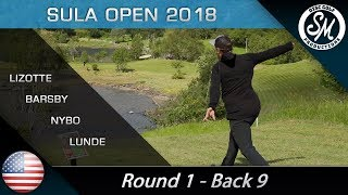 Sula Open 2018 | Round 1 Back 9 | Lizotte, Barsby, Nybo, Lunde *English*