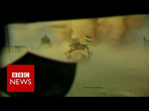Inside the Kurdish advance on Mosul - BBC News