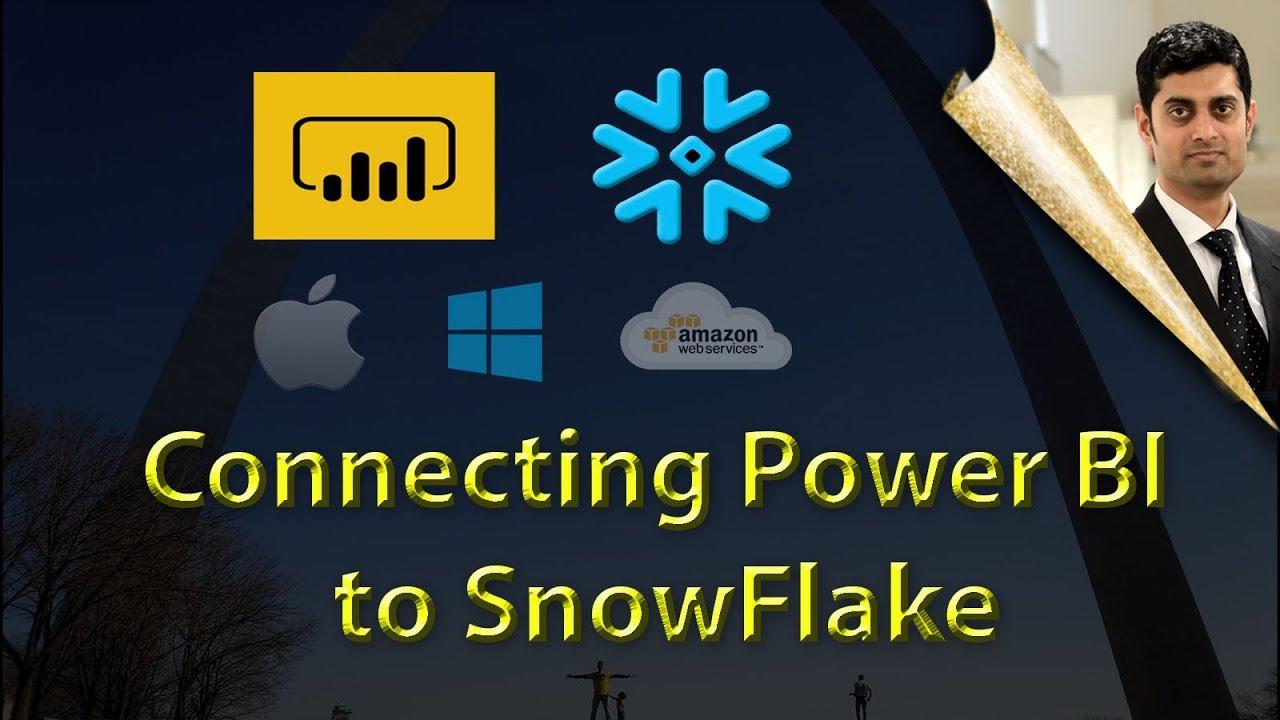 Connecting Power BI to SnowFlake