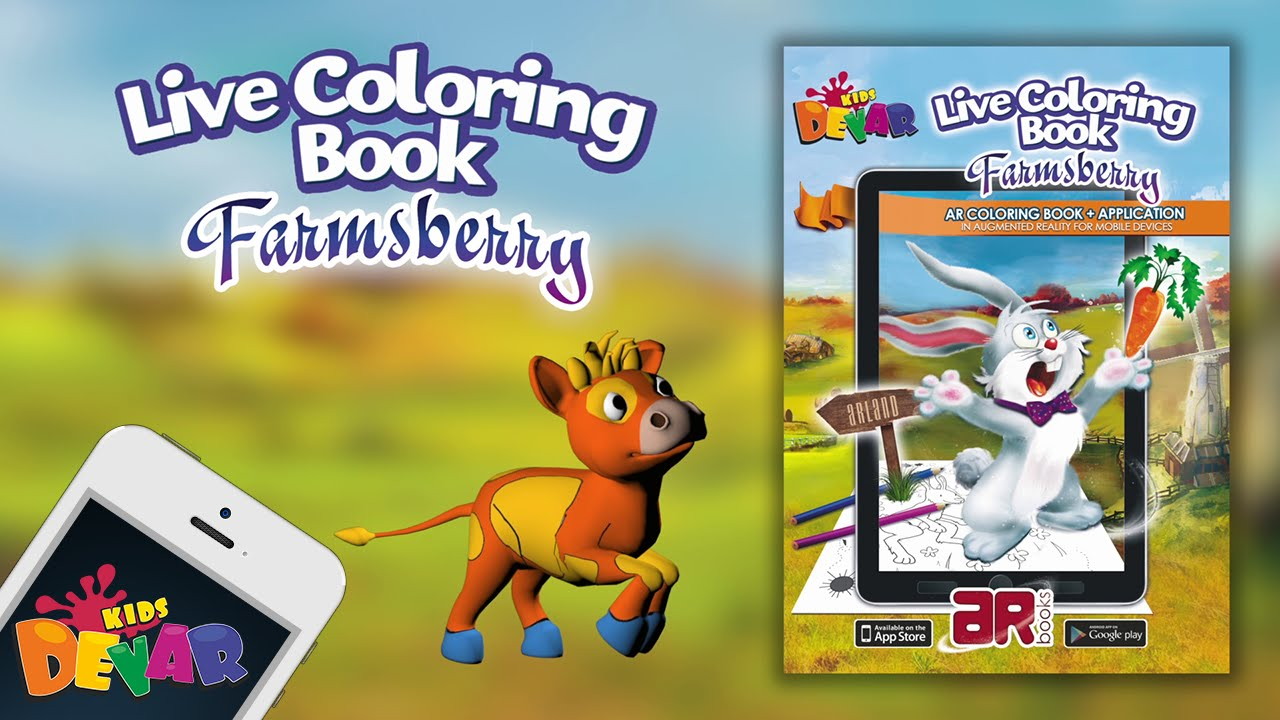 Farmsberry Augmented Reality Coloring Book