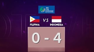 FILIPINA 0 VS 4 INDONESIA  AFC U-16  CHAMPIONSHIP QUALIFIERS