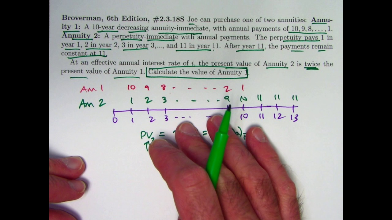 actuarial exam 2  fm prep  find present value of a