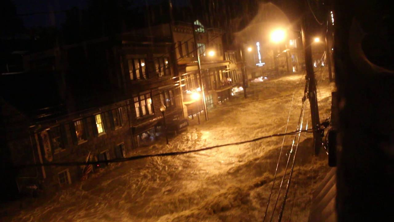 Historic Ellicott City Flood - from third floor Cacao Lane - YouTube