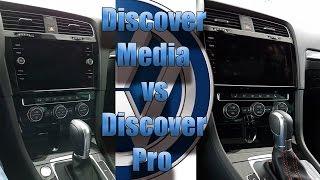 Vergleich Discover Media Gen 3 vs Discover PRO VW Golf 7 GTI Facelift Update 2017 Mk VII