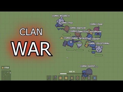 Moomoo.io - CLAN WAR | Private Server