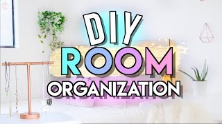 DIY Room Organization Makeover, Storage Ideas + Tips (Room Makeover Part 2) | JENerationDIY