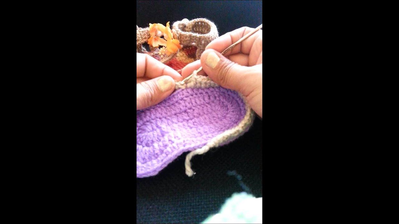 Excepcional Sandalias De Bebé Libre Patrón De Crochet Elaboración ...