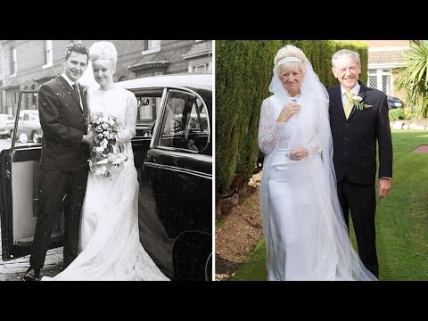 Elderly Couple Wears Actual Wedding Outfit To Celebrate 50th Anniversary