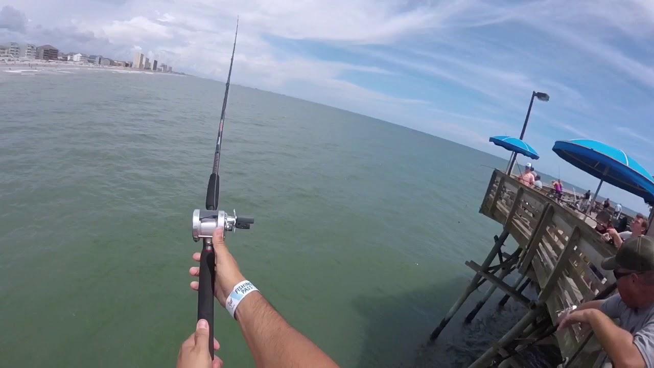 Pier Fishing In Garden City Sc Youtube