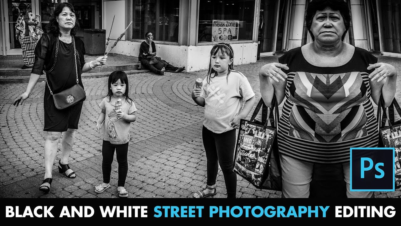 How to edit bw street photography photoshop cc tutorial