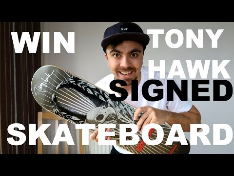 After the eBay winner refused to pay, I'm raffling off a signed Tony Hawk skateboard he donated for charity for only $2 a ticket