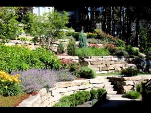 Hillside landscaping design ideas - YouTube