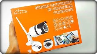 Zewnętrzna kamera IP 1080p PoE WIFI Media-Tech MT4098 Onvif - unboxing
