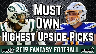 Must Own Players With the Highest Upside - 2019 Fantasy Football