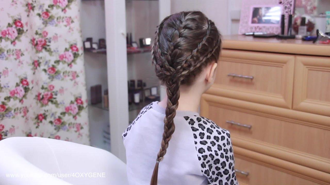 Прочная детская прическа из косичек. Strong Hairstyle for Girls