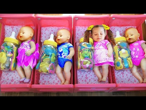 Diana playing with Baby Born Doll learn colors for kids & toddlers Videos for children